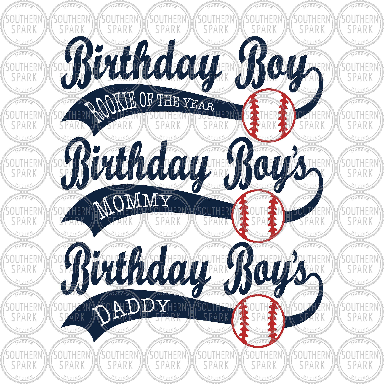 Download Bundle Birthday Boy SVG / Baseball Birthday SVG / Mommy ...
