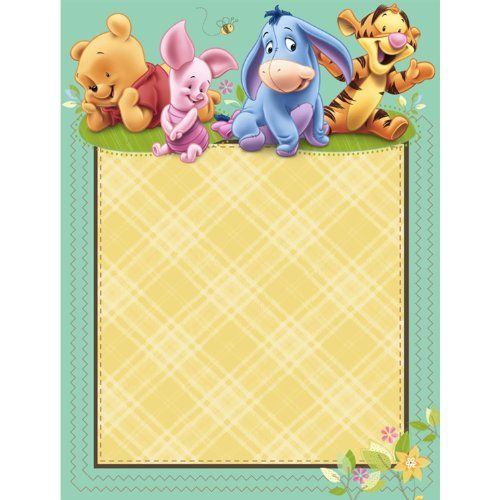Invitaciones De Winnie The Pooh Bebé Para Imprimir Gratis