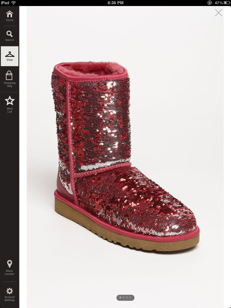 104306745ac Red/Pink colored sparkle UGGs | Fashion ❤ | Ugg boots sale, Ugg ...