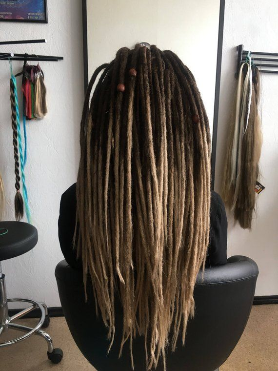 4d54a96043f81 8/24 OMBRE SYNTHETIC DREADS full set double ended dreadlocks. Soft ...