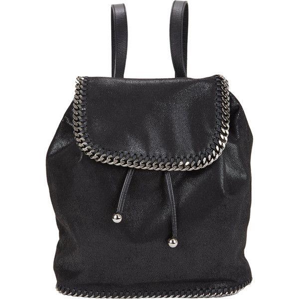 0621f201f8be Stella McCartney black faux-suede Falabella Shaggy Deer backpack. Vegan-friendly  faux leather