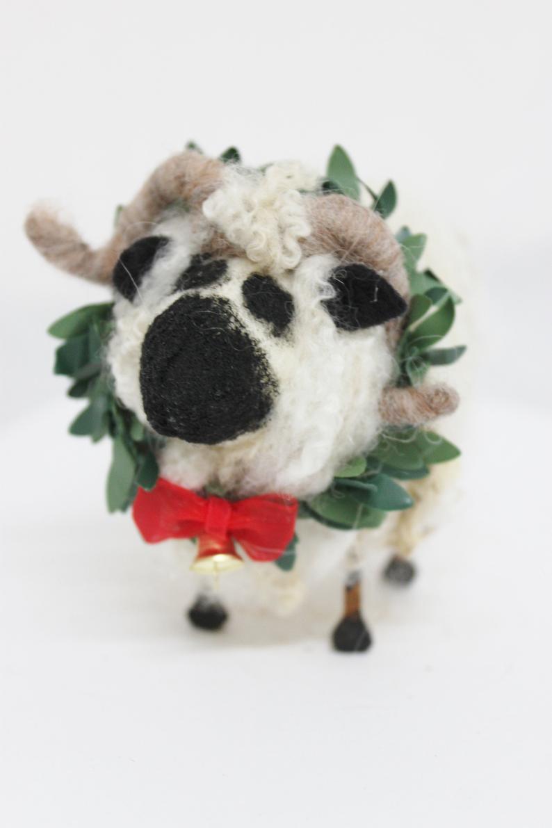 Valais Blacknose Sheep Needle Felted Sheep 4712 Etsy Needle Felting