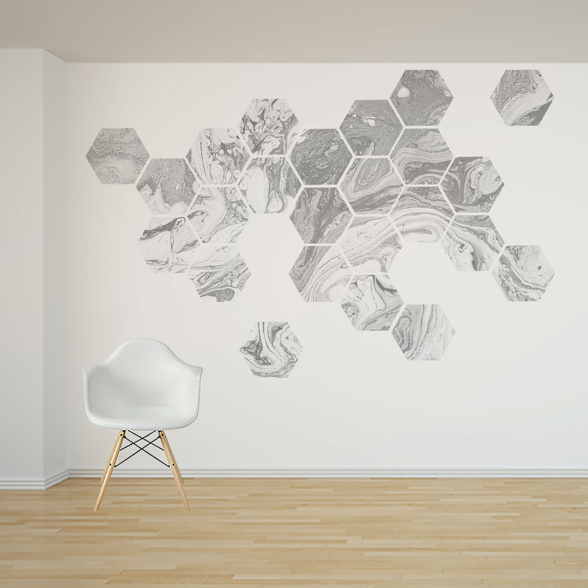 Removable Honeycomb Wall Decal 16 Or 24 Hexagon Stickers Self