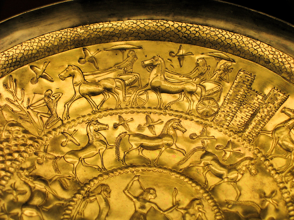 Etruscan Museum Gold Plate Museum Gold Gold Plate