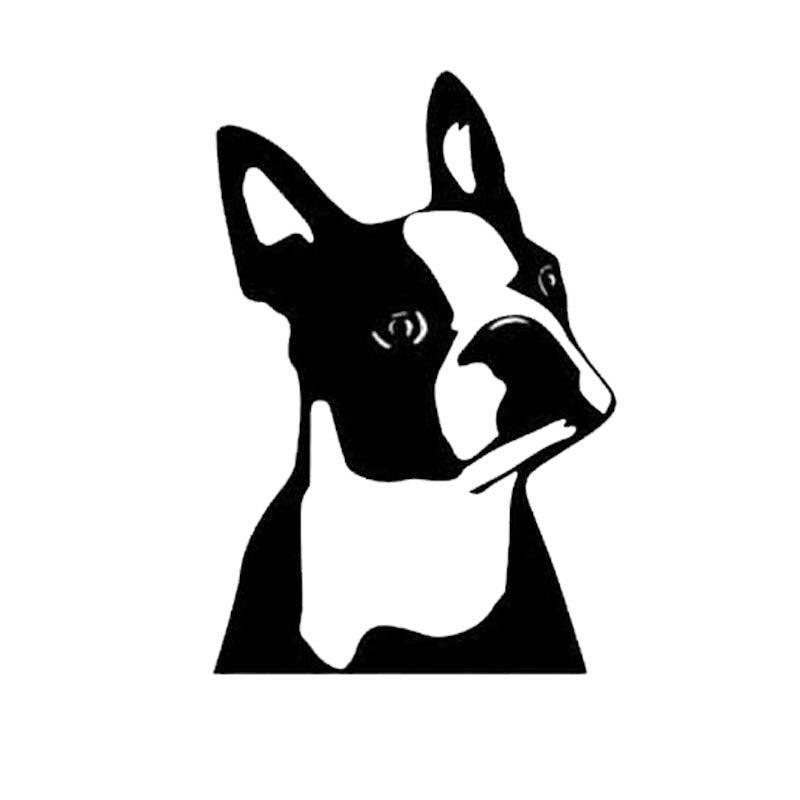 Boston Terrier Dog Car Window Sticker Cartoon Vinyl Decal Black Sliver In 2020 Boston Terrier Dog Boston Terrier Clothes Dog Car