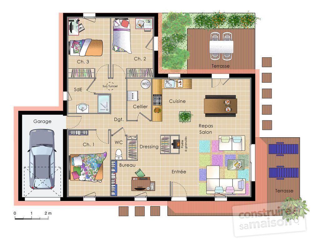 un plan de maison moderne