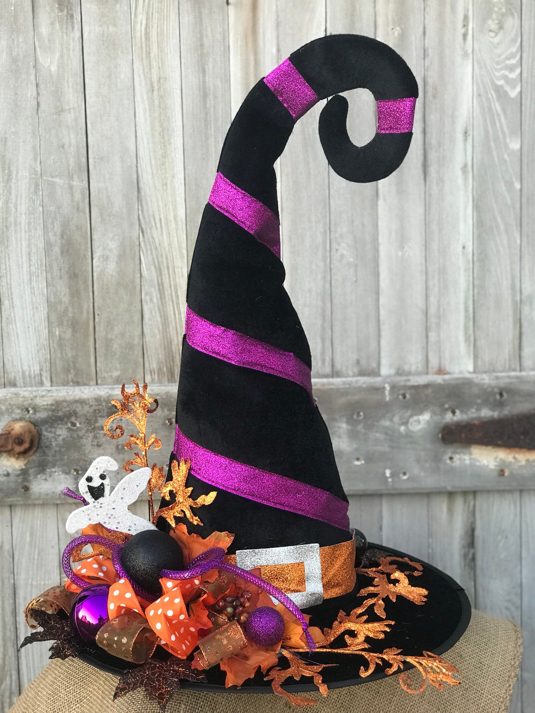 a0b26745 Excited to share this item from my #etsy shop: Whimsical Witches Hat,  Halloween decor, fall decor, Halloween centerpiece, witch hat centerpiece  ...