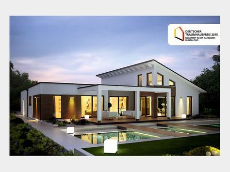 Einfamilienhaus modern pultdach  Marseille L - #Einfamilienhaus von RENSCH HAUS GmbH | HausXXL ...