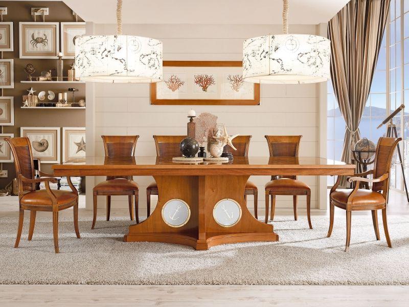 Maritime Möbel für das Esszimmer - Tisch aus Massivholz | Ideen rund ...