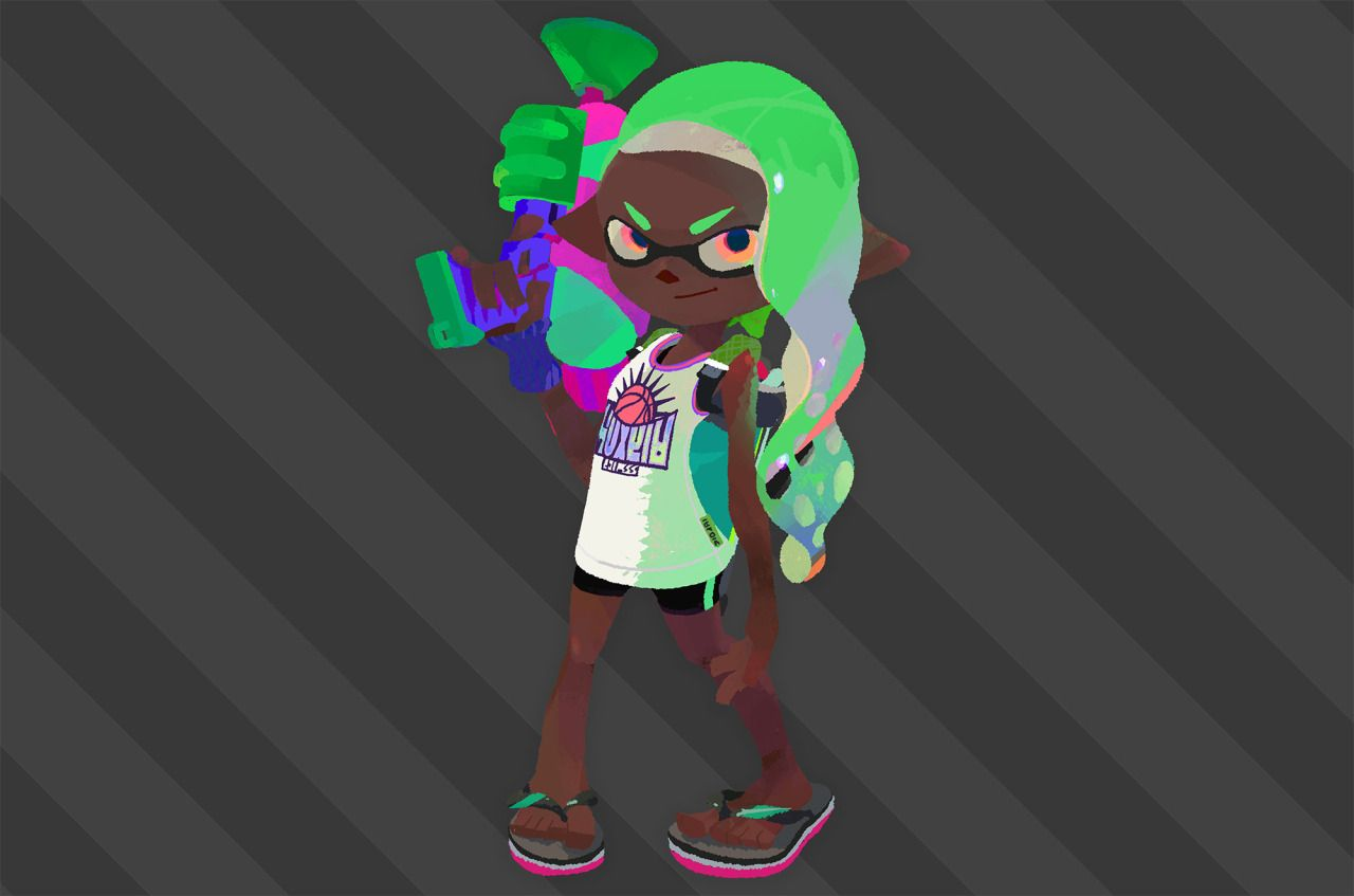 Inkling Boy Girl Are The First Black Non Mii Characters In Mario Kart
