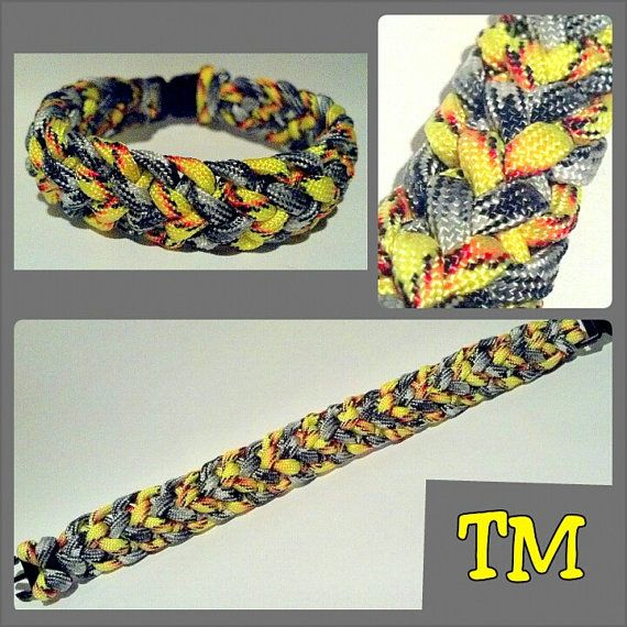 Sunshine & Stormclouds Paracord Bracelet by ThrowinWristicuffs, $7.00