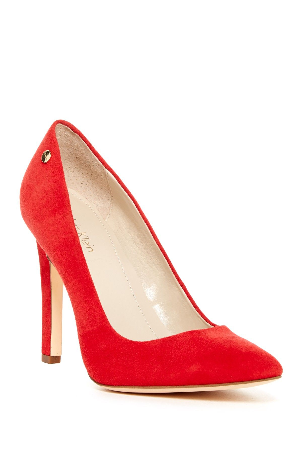 566a575e08b Brady Suede Pointed Toe Pump - Wide Width Available by Calvin Klein on   nordstrom rack