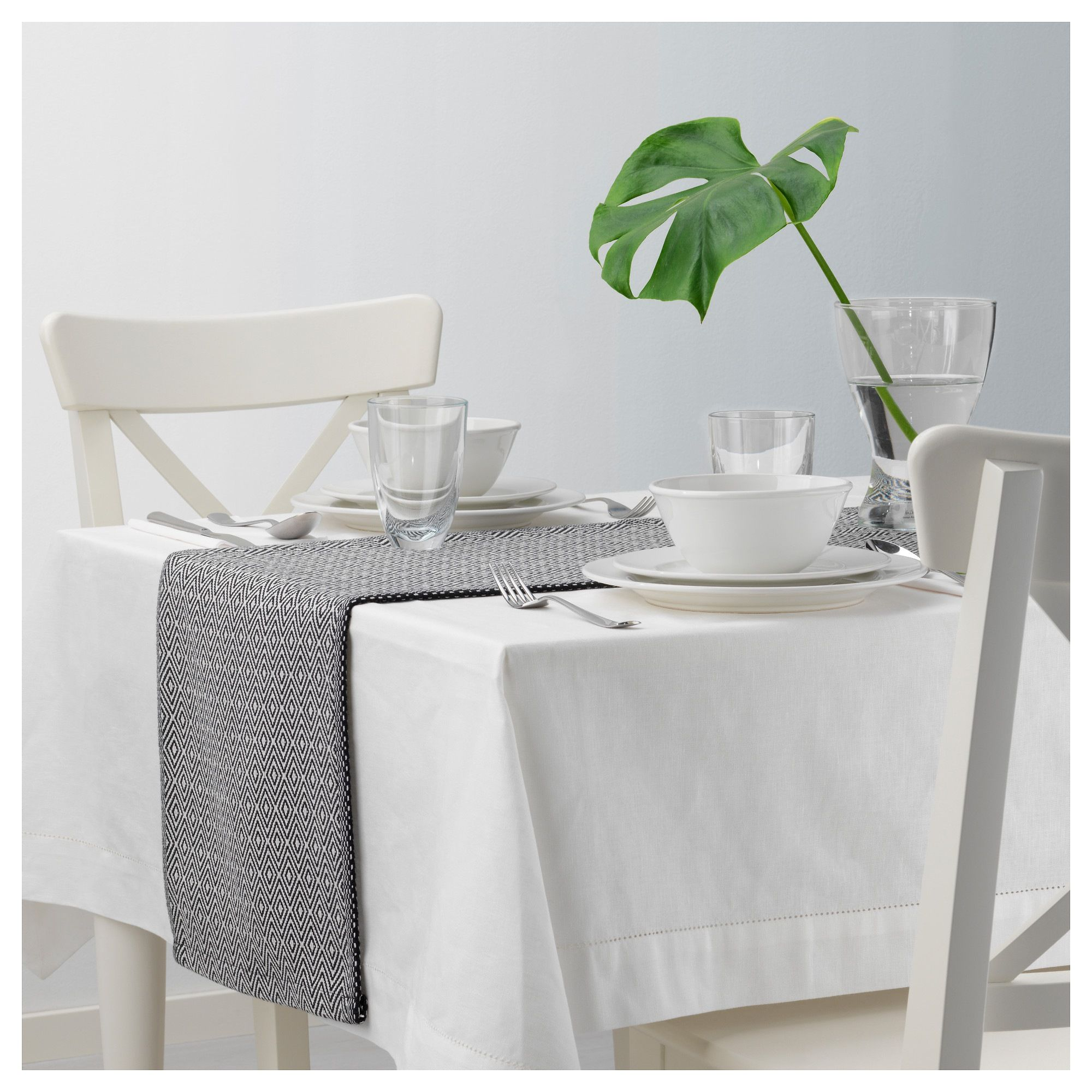 Ikea Goddag Black White Table Runner Ikea Ikea Table Table