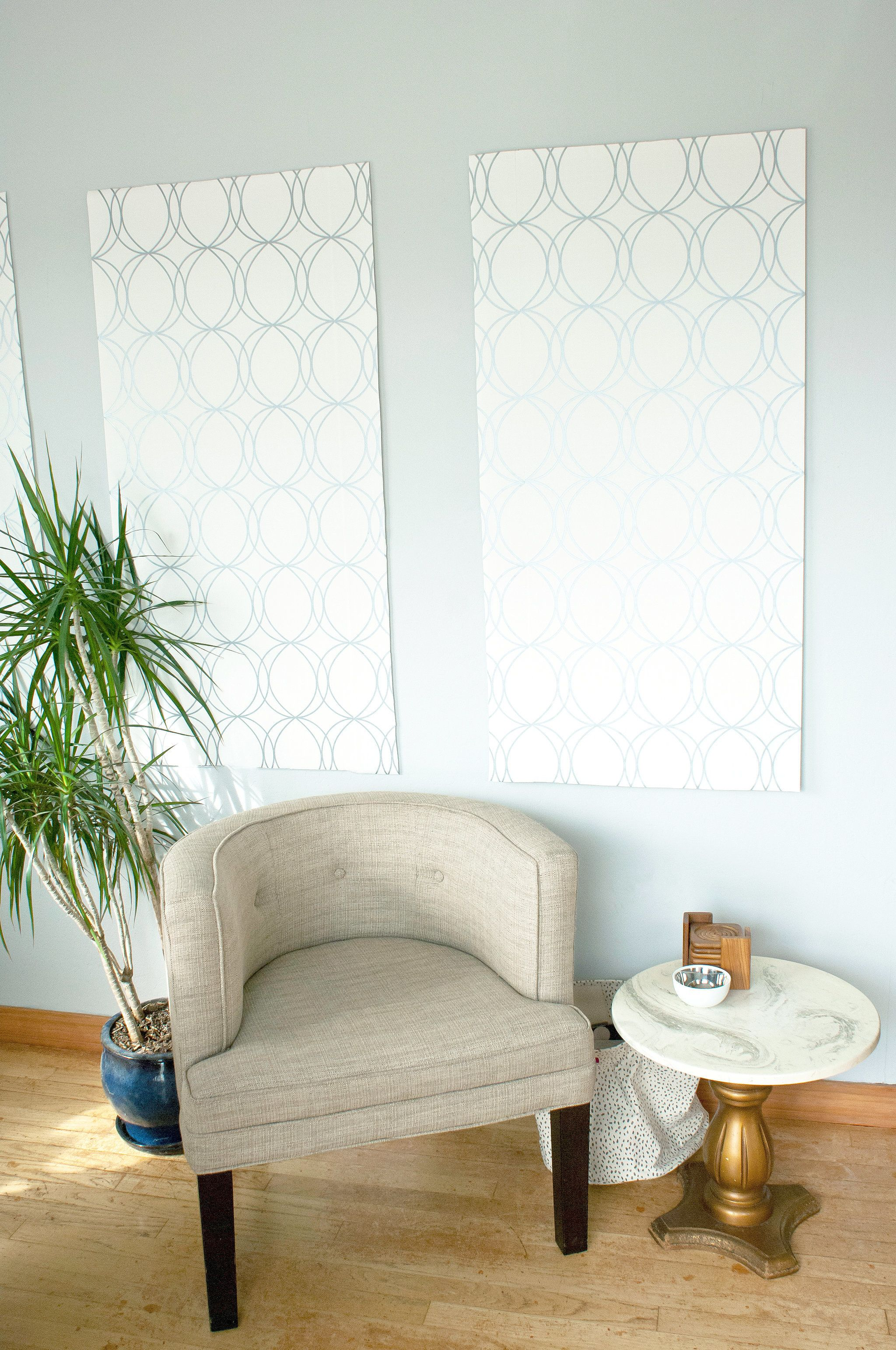 Can T Paint Your Walls Diy Wallpaper Panels Instead