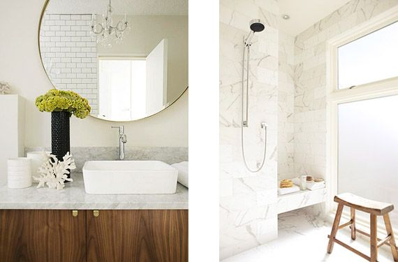 Cuartos de baño con mármol blanco, luminosos y elegantes | Mármol blanco
