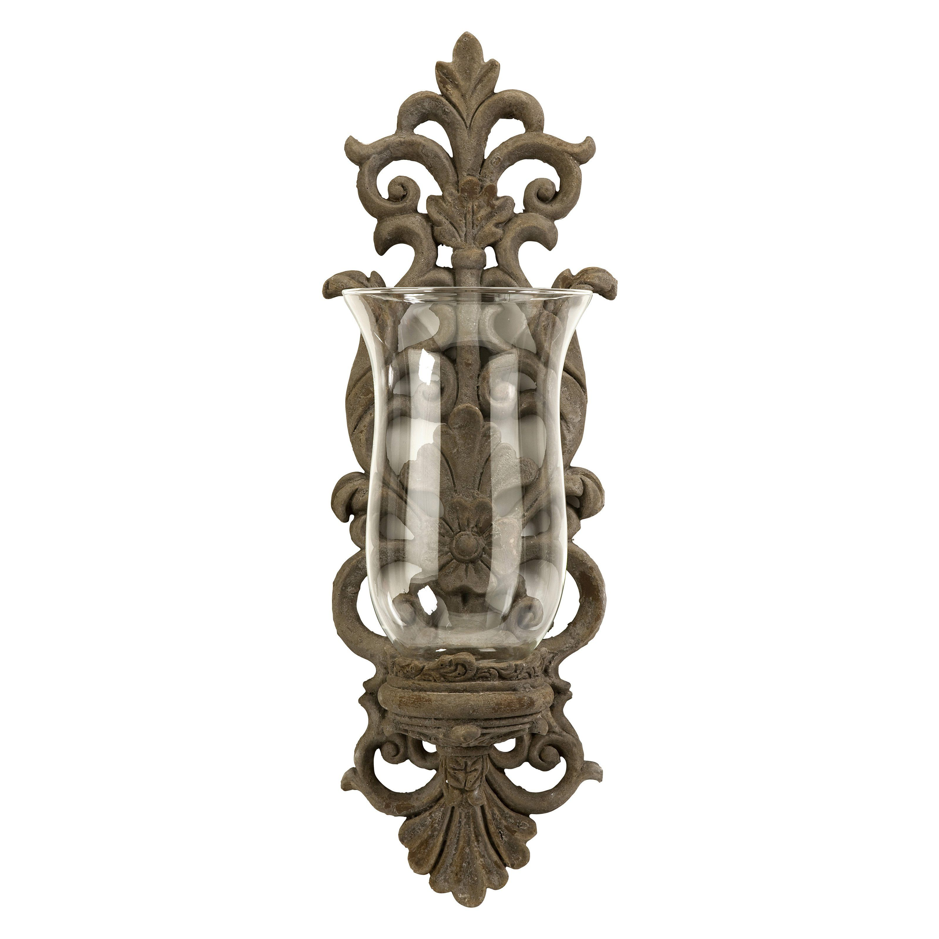 pollianna hurricane candle wall sconce from