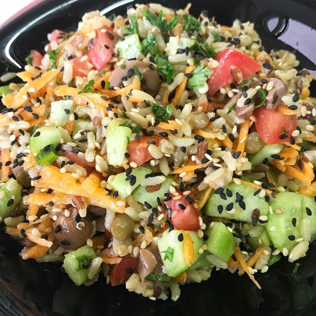 Salada De Arroz Integral 7 Graos Maravilhosamente Saudavel Fiz