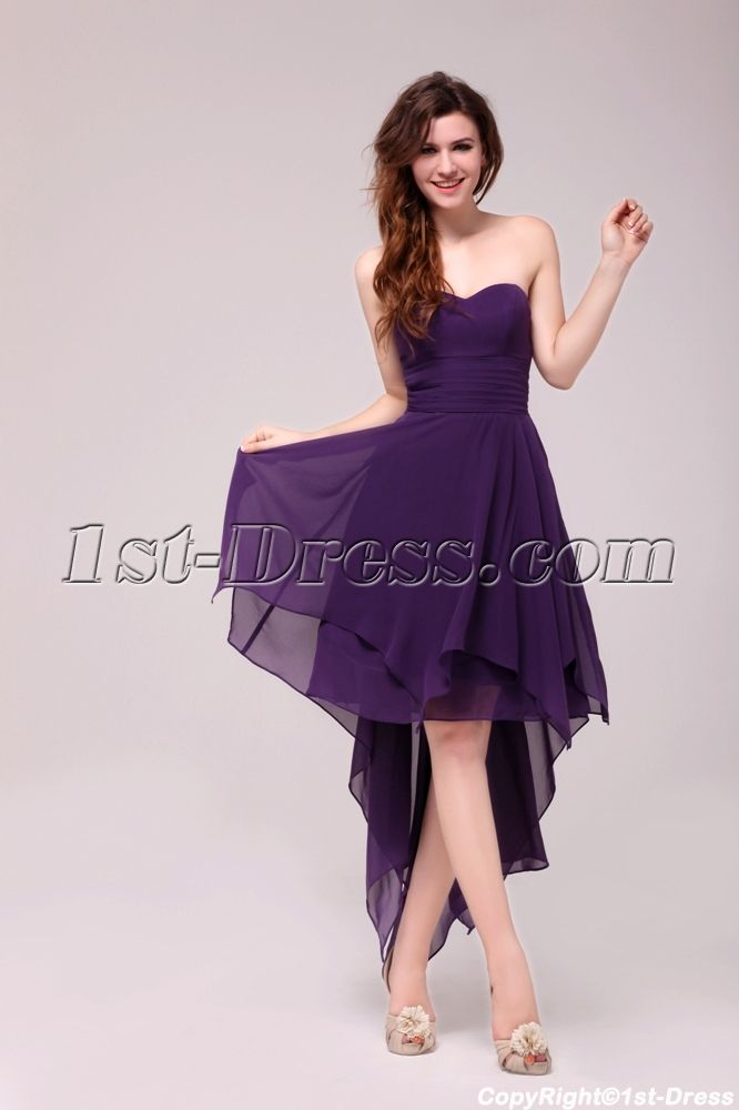 1st-dress.com Offers High Quality Stunning Purple High-low Prom ...