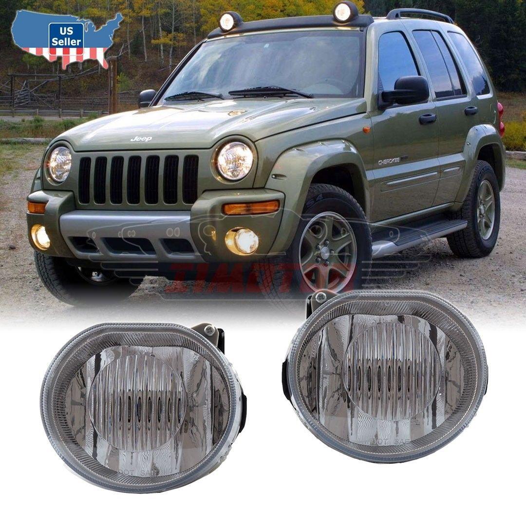 Winjet 2002 2003 2004 Jeep Liberty Oe Fitment Replacement Fog Light Kit 848063005521 Ebay