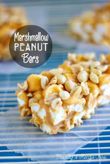 Marshmallow Peanut Bars Recipe Peanut Bar Dessert