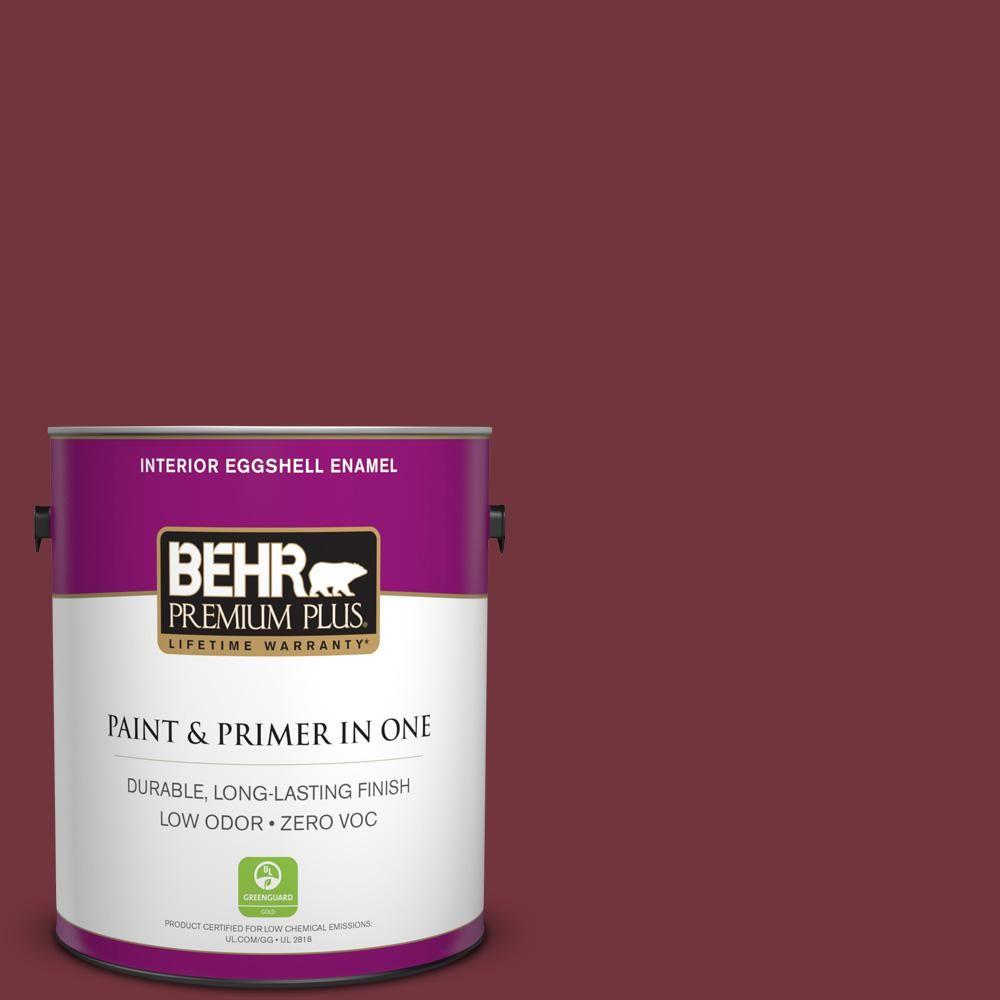 BEHR Premium Plus 1-gal. #S130-7 Cherry Cola Eggshell Enamel Interior Paint