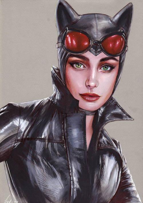 Catwoman Portrait Fred Ian Catwoman, Comic art