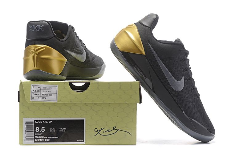 wholesale dealer 81b62 c0d46 Cheapest 2018 Latest Kobe AD Black Mamba Black Gold - Click Image to Close