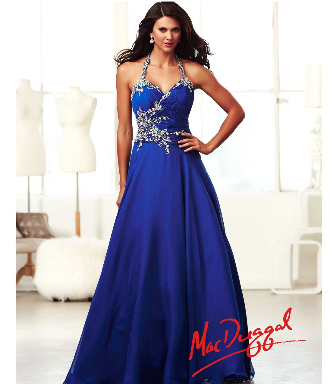 Images of Royal Blue Prom Dress - Reikian