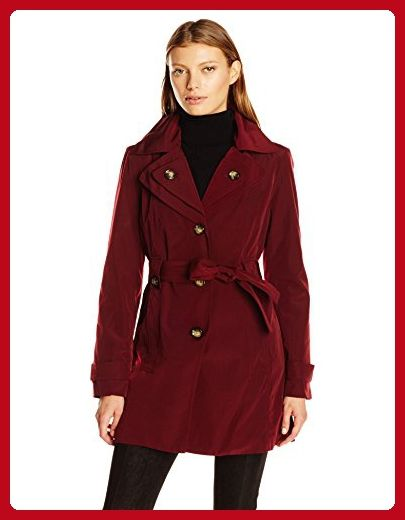 6e0cbd4f8ce London Fog Women s S B Belted Trench with Hood