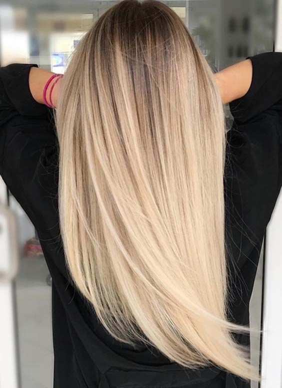 50 Best Platinum Blonde Balayage Hair Colors 2018