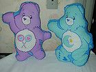 2 CARE BEAR FABRIC PILLOW PANELS MADE INTO PILLOWS-SHARE  BEDTIME - amp, BEAR, BEDTIME, Care, Fabric, Into, Made, PANELS, pillow, PILLOWSSHARE