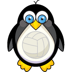 Penguin Volleyball Volleyball Designs Volleyball Mom Volleyball