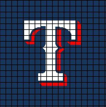 3 Texas Rangers Crochet Pattern Square Pillow 18 Quot X