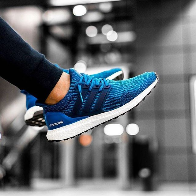 Casual Mens Black Blue Adidas Ultra Boost Flyknit Sneaker Running Shoes Sold In Uk