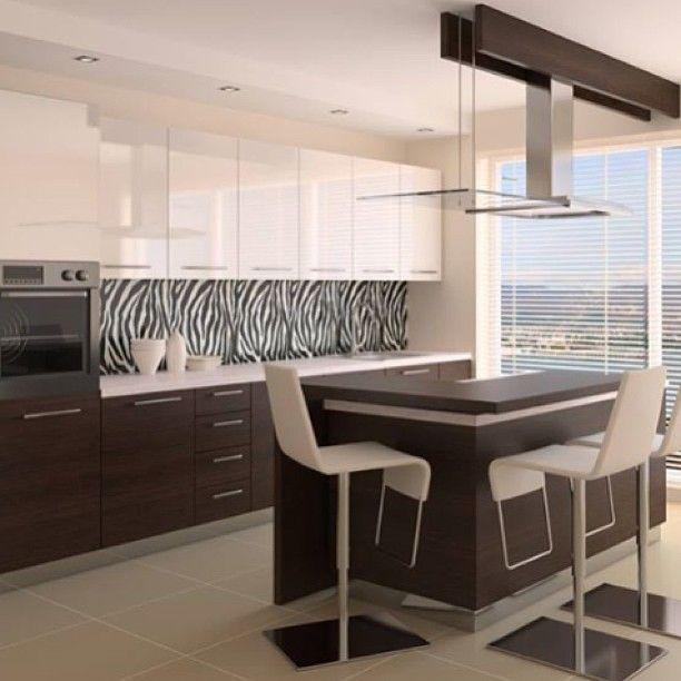 """Zebra Kitchen Decor: Thinking About A New Splashback? Why Not Try """"zebra"""". This"""