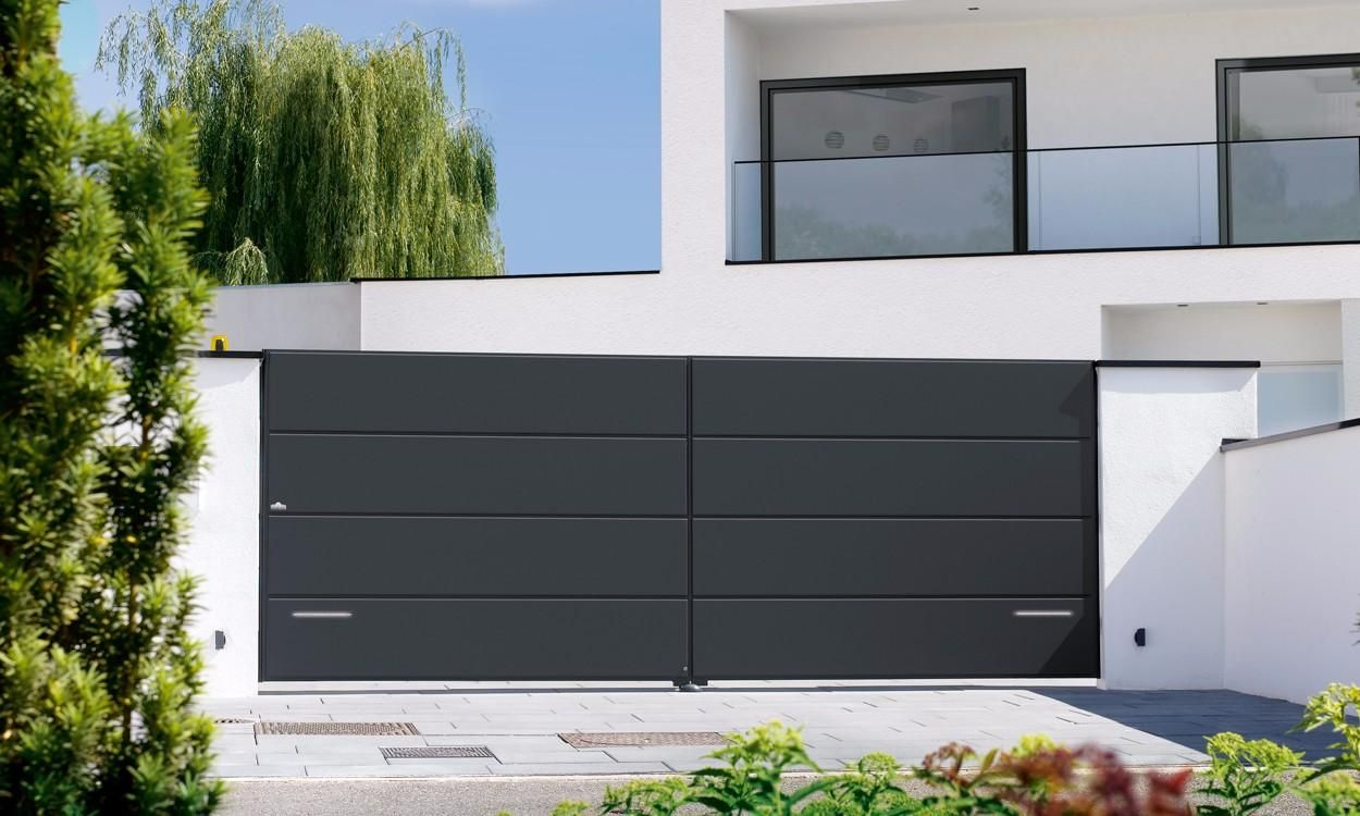 portail alu lucco driveway front entry gate inspiration. Black Bedroom Furniture Sets. Home Design Ideas