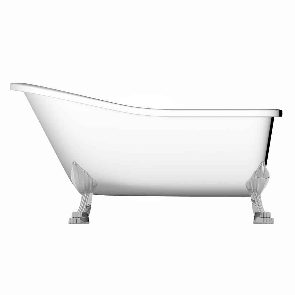 Jade Bath London 59 In Acrylic Clawfoot Bathtub In White 1021 59