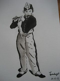 el flautista - los dibujos de jose angel barbado - by jose angel barbado