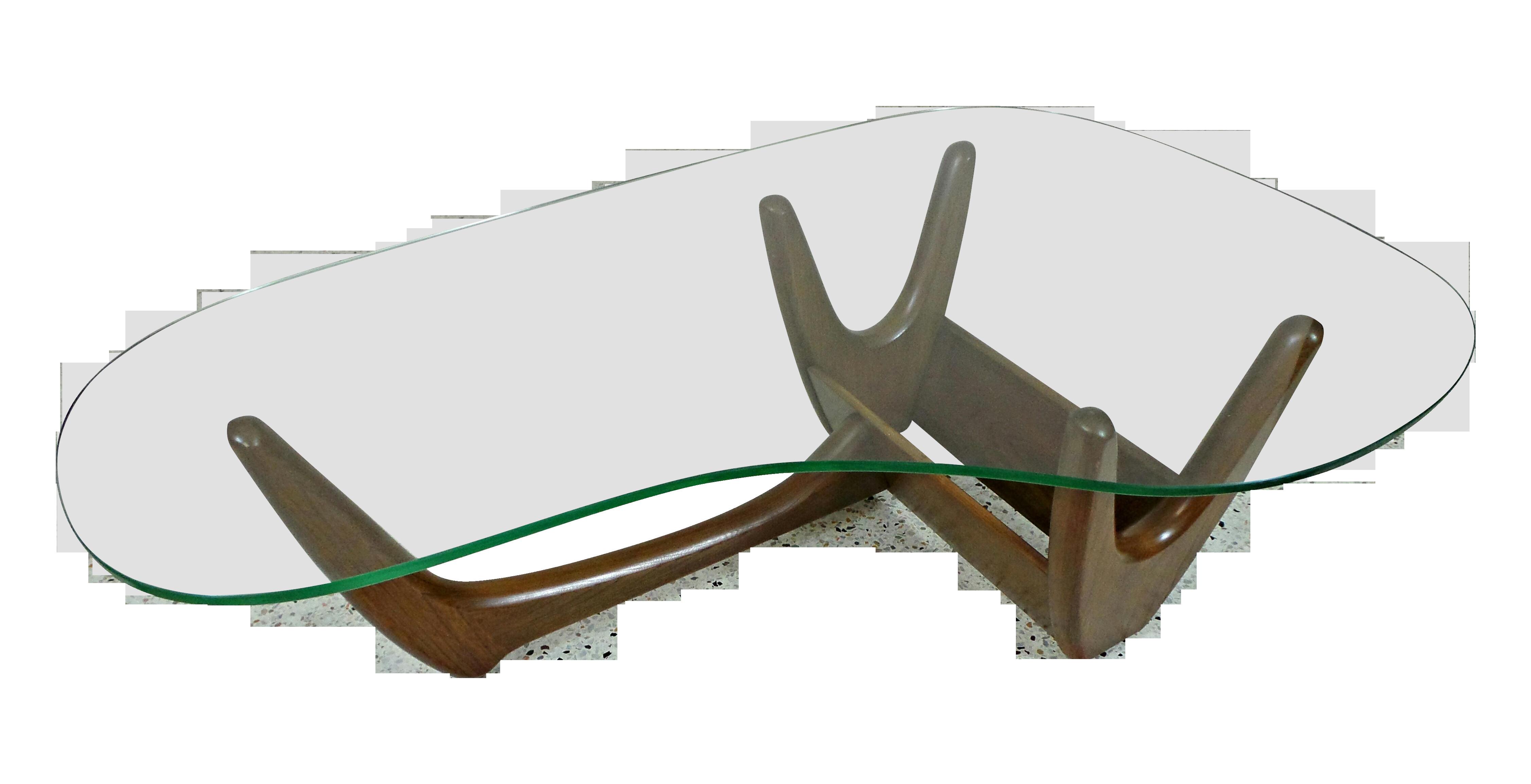 Adrian Pearsall Kidney Glass Walnut Coffee Table Coffee Table Walnut Coffee Table Wood Table Bases [ 2309 x 4506 Pixel ]