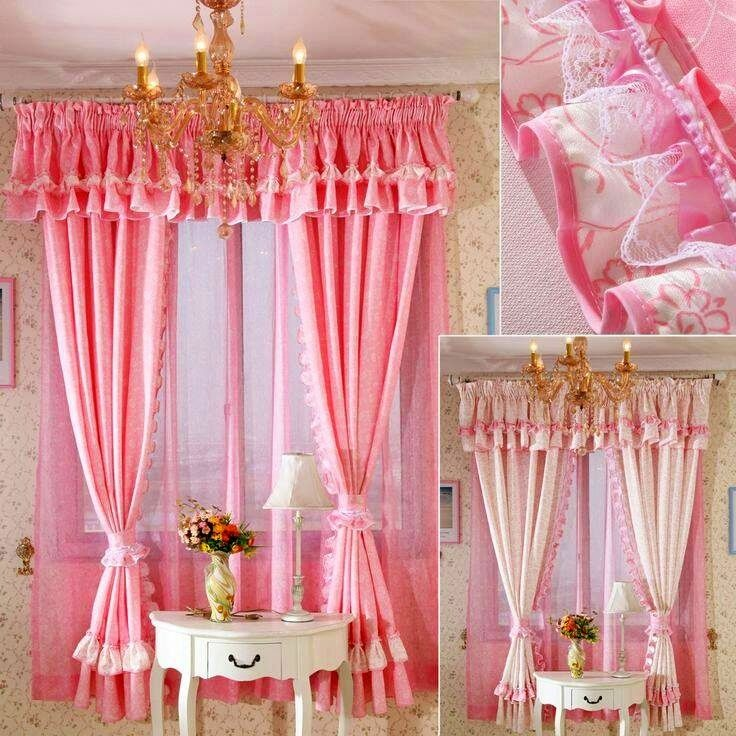Cortinas para cuarto de ni as girls bedroom pinterest cuarto de ni os cortinas y ideas - Cortinas para nina ...