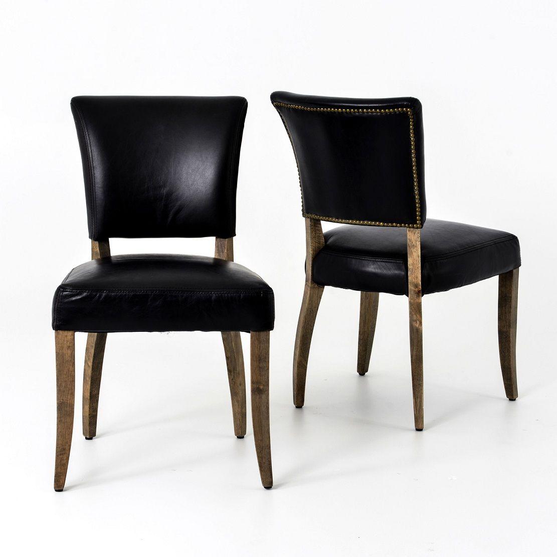 Mimi Saddle Black Leather Dining Chair Black Leather Dining Chairs Leather Dining Chairs Leather Dining