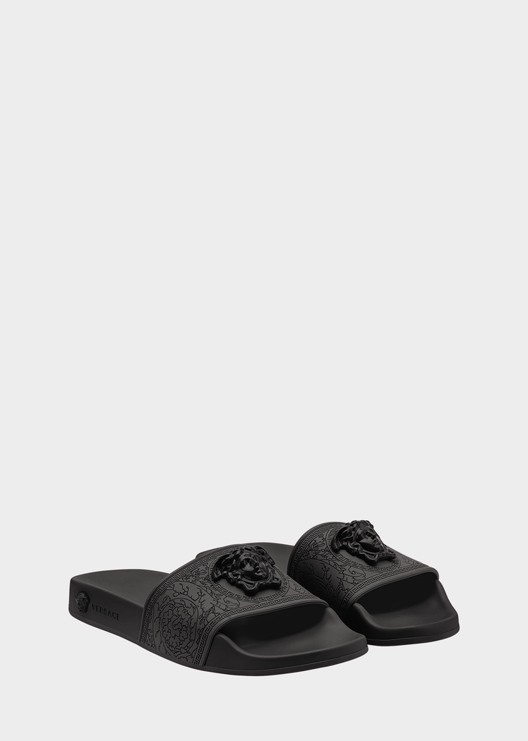 7a71bb29e68 Versace Baroque Medusa Slides for Women