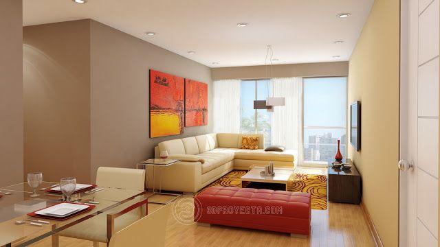 Diseno Interior En 3d De Sala Comedor Fotorealista Diseno De Interiores Colores Para Sala Arquitectura Interior