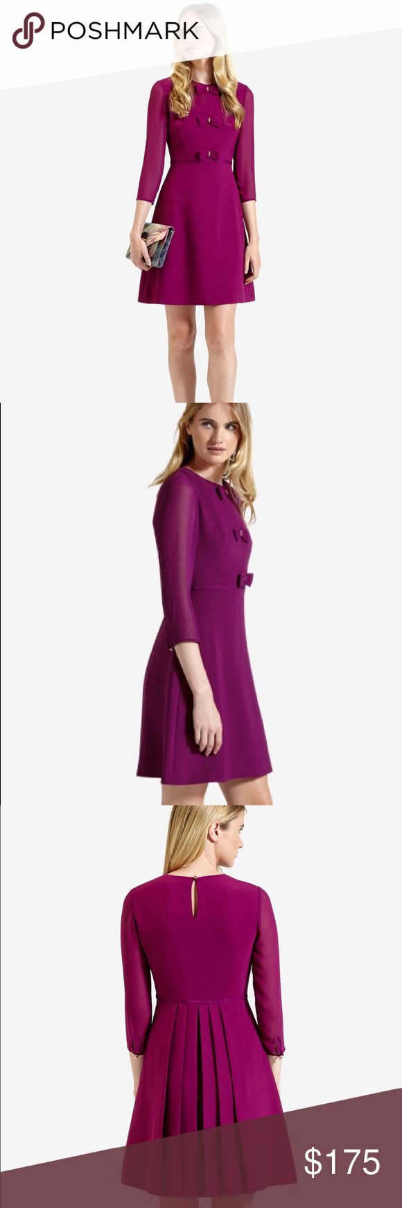 Ted baker bow detail shift dress dry cleaning ted and rose