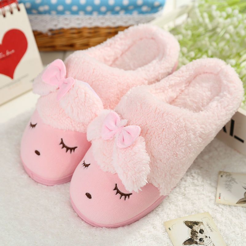 Soft House Slippers Women/Men Home Shoes Cute Bedroom Foot Warmer ...