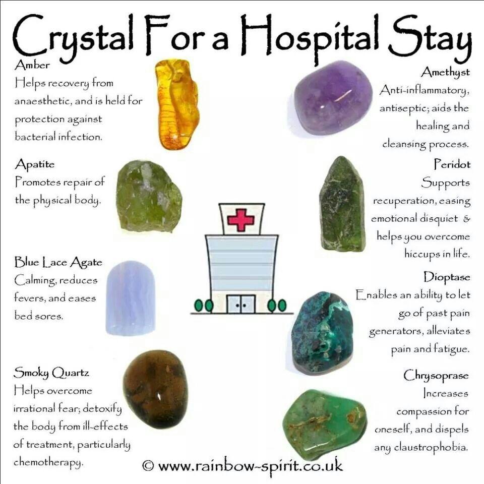 Crystals for hospital stay   artsy craftsy