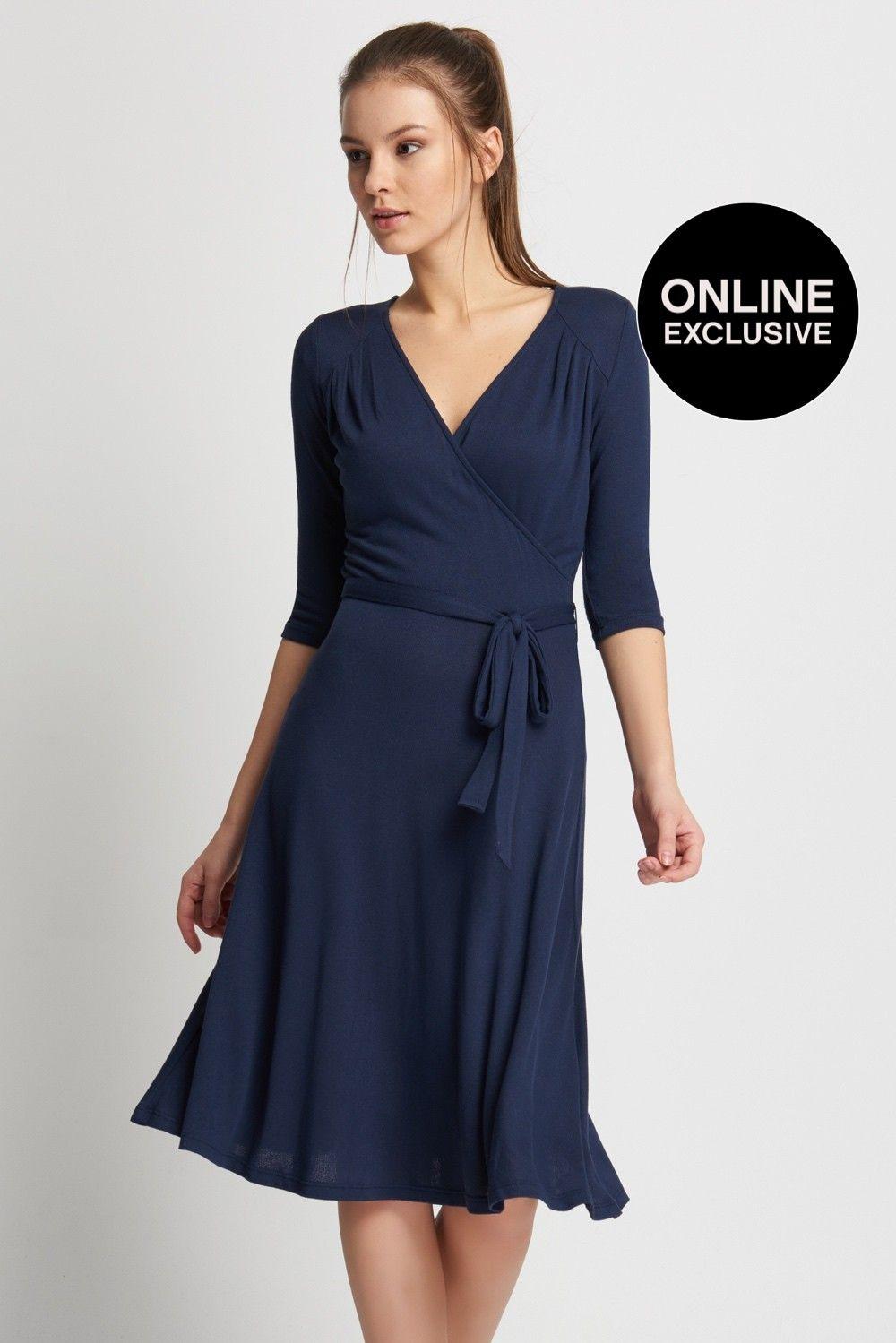 Wickel-Kleid mit Taillenriemen  ORSAY  Wickelkleid, Kleider