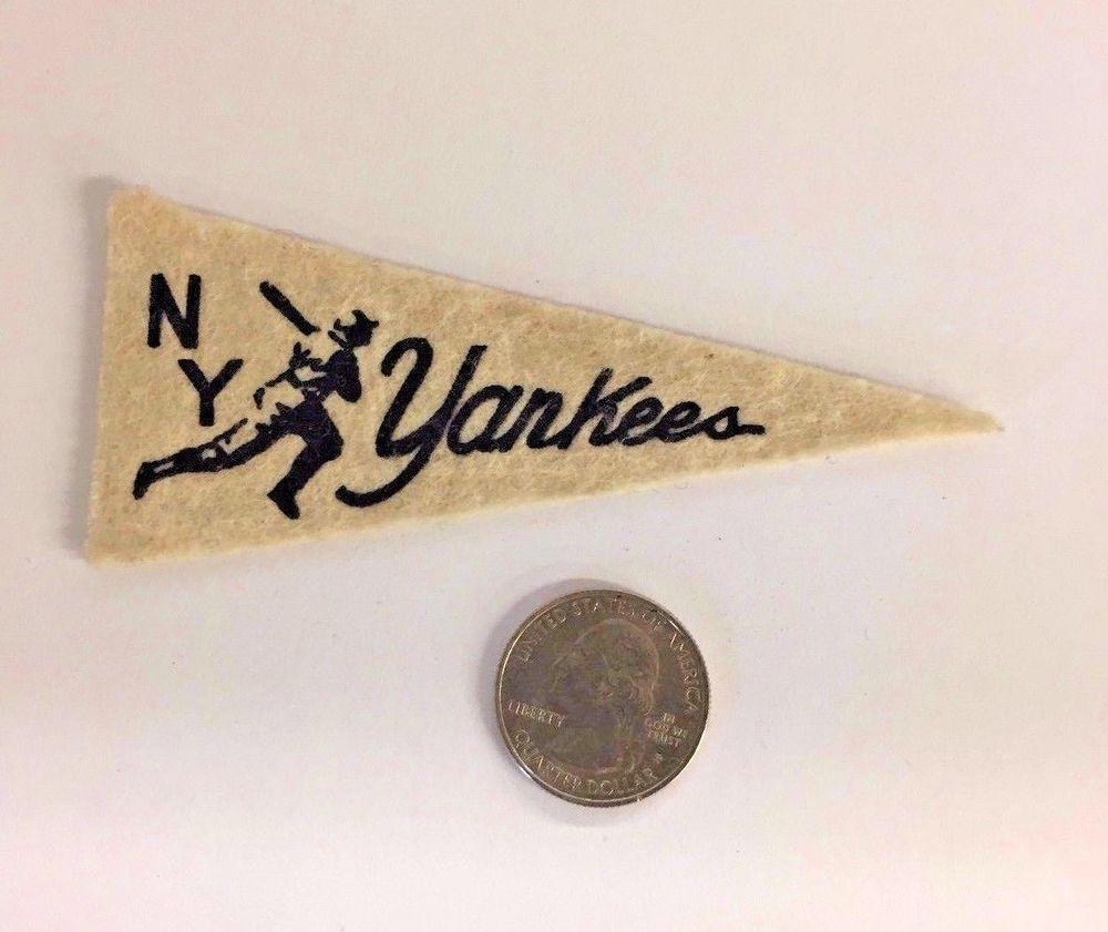 Vintage 1940s New York Yankees Baseball Mini Felt Pennant American Nut Premium Felt Pennants New York Yankees Baseball Vintage Sports