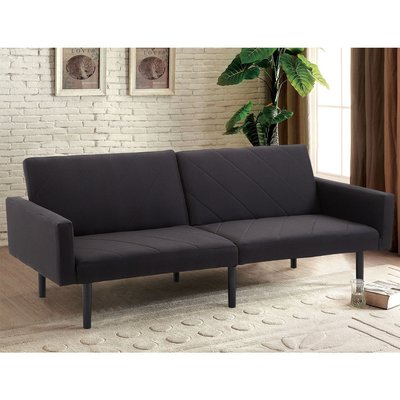 George Oliver Bash Reclining Sleeper Upholstery Color Black Grey Sofa Bed Futon