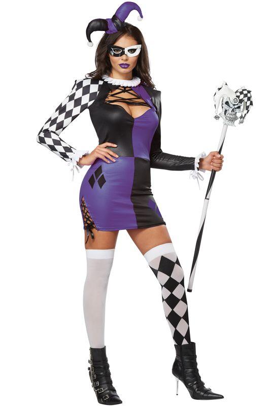 naughty jester adult costume - Halloween Naughty Costumes